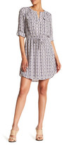 Daniel Rainn Printed Roll Sleeve Dress