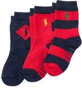 Ralph Lauren Rugby Argyle Crew Sock 3-Pack