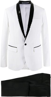 DSQUARED2 Sequin-Lapel Tux Blazer