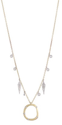 Meira T 14K Yellow Gold Pave Diamond Fringe Necklace