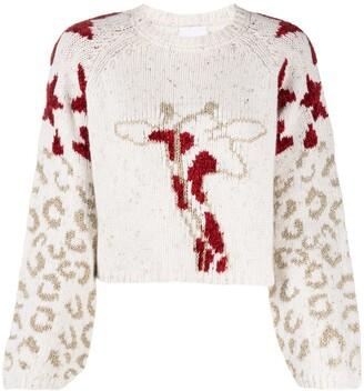 Antonella Rizza Leopard Print Knit Jumper