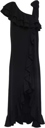 Ganni Ruffled Stretch-crepe Maxi Dress