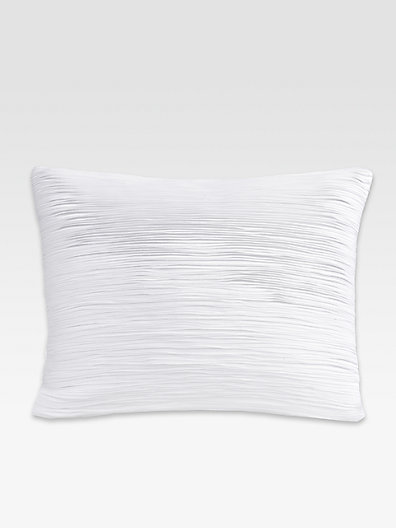 Donna Karan Essentials Layered Sateen Pillow/White
