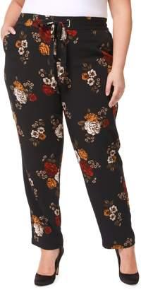 Dex Plus Floral-Print Stretch Pants
