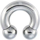 "Body Candy Stainless Steel 12mm Balls Horseshoe Circular Barbell 0 Gauge 5/8"""