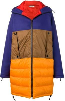 Marni colour block padded coat
