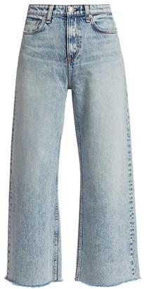 Rag & Bone Ruth Super High-Rise Ankle Wide Leg Jeans