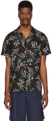 Paul Smith Black Floral Casual Shirt