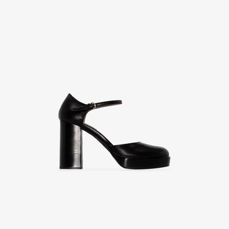 Miu Miu Black 105 Patent Leather Platform Pumps