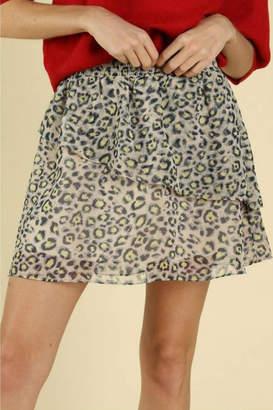 Wild Honey Flowy Leopard Skirt