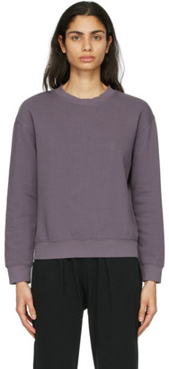 Raquel Allegra Purple Fleece Vintage Classic Sweatshirt