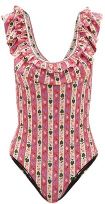 Muzungu Sisters - Peony Floral-print Swimsuit - Pink Print