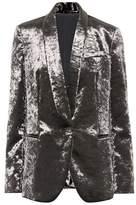 Brunello Cucinelli Embellished crushed-velvet blazer