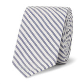 Thom Browne 5.5cm Striped Cotton Oxford Tie