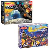 Melissa & Doug Toddler Solar System & Underwater Floor Puzzles