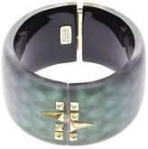 Alexis Bittar Snake Patterned Perspex Cuff Bracelet