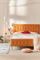 Urban Outfitters Layla Velvet Upholstered Bed Frame