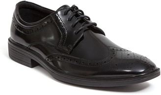 Deer Stags Men's Memory Foam Dress Wingtip Oxfords - Taro