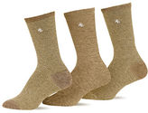 Ralph Lauren 3-Pack Tweed Polo Trouser Socks
