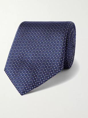 HUGO BOSS 7.5cm Pin-Dot Silk-Jacquard Tie - Men - Gray