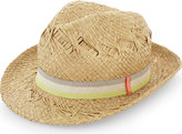 Sunuva Striped Band Straw Trilby Hat