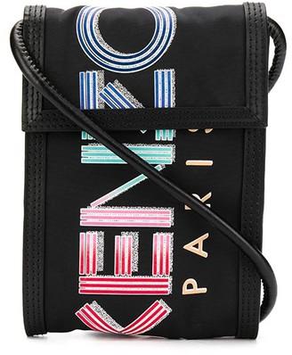 Kenzo mini logo print messenger bag