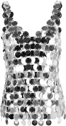 Paco Rabanne V-Neck Sequin Tank Top