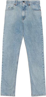 Gucci Washed Denim Jeans in Light Blue | FWRD