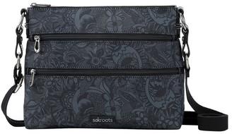 The Sak 1108778BLA Artist Circle Zip Top Crossbody Bag
