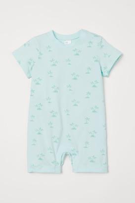 H&M Patterned Romper Suit - Green