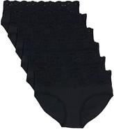 Pact Lace-Waist Brief 6-Pack (Black) Women's Underwear