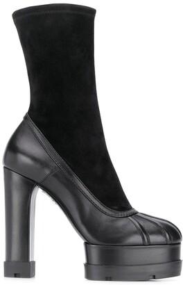 Casadei Platform Calf-Length Boots