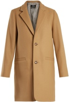 A.P.C. Carver single-breasted wool-blend coat