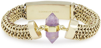 Cornelia Webb Gold-tone Amethyst Bracelet