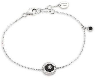Marli Coco Diamond & Black Onyx 18K White Gold Charm Bracelet