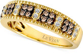 LeVian Le Vian Chocolate Diamond (1/3 ct. t.w.) and Diamond Accent Band in 14k Gold