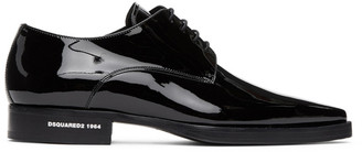 DSQUARED2 Black Calfskin New Punk Derbys