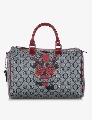 Resellfridges Pre-loved Gucci GG Supreme Tattoo Heart Joy Boston canvas bag