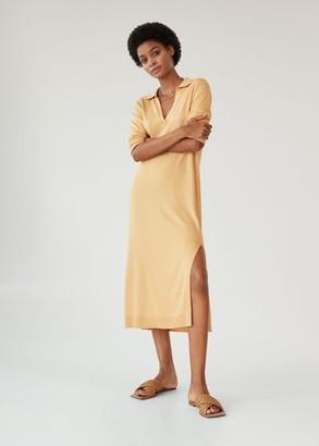 MANGO Knit dress medium brown - 2 - Women