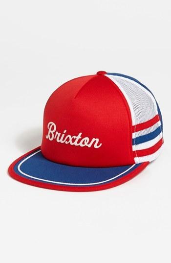 Brixton 'Pilsner America' Trucker Cap Red/ White/ Blue One Size