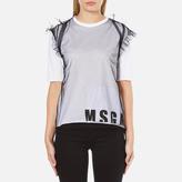 MSGM Women's Net Logo TShirt - White
