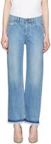 Valentino Blue Fringe Jeans