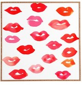 DENY Designs 'Le Baiser' Framed Wall Art
