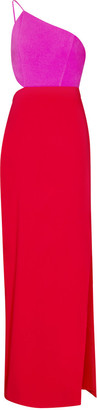 Aidan Mattox Colour Block Crepe Dress