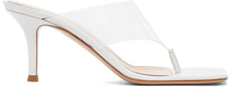 Gianvito Rossi White Lotus 70 Heeled Sandals