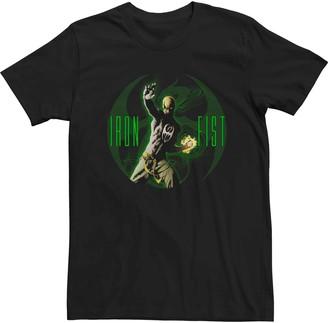 Iron Fist Men's Marvel Glowing Logo Tee