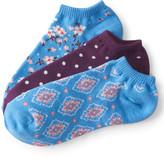 3-Pack Floral, Geometric & Dot Ankle Socks