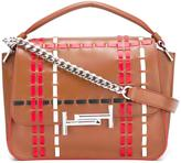 Tod's contrast stitching tote bag