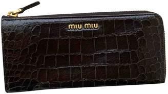 Miu Miu Brown Patent leather Wallets