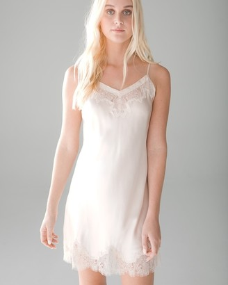 Soma Intimates Soma Sensual Silk Chemise with Lace Trim